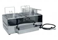 Fritador a gás Orcil Alta Pressão 2 cestos 2 cubas F2G R$576,00